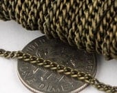 SALE Sale 100 ft of Antique Brass Finished Curb chain - 2.2mm - unsoldered Links
