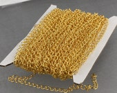 32 ft Gold Plated SOLDER Curb Chain EXTENDER Chain - 4x3mm Soldered Link