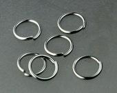 Jump RINGS 50 pcs of STAINLESS Steel Jump Rings Link Surgical Jumprings 8mm 18G Necklace Bracelet Wholesale Jump Rings Bulk Jumprings