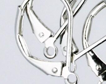 50 Rhodium Antique Silver Leverback Earrings earwire - 10X16mm