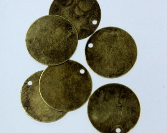 50 pcs of Antique Brass Finished Coin drop dangle 18mm
