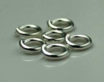200 pcs of Sterling Silver Plated jumpring 5mm - 18G