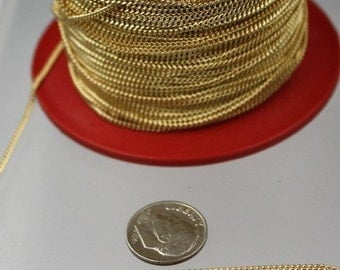 10 ft Gold Plated Solder Curb Chain - 1.6mm SOLDERED Link