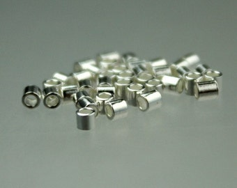 100 pcs Sterling silver CRIMP TUBE BEAD 2x2mm