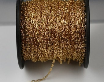 32 ft spool of Gold plated SOLDERED Figure 8 Connector Chain - 4x3mm links