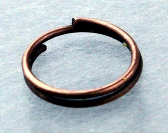 200 pcs of Antique Copper Finished Split Rings - 10mm