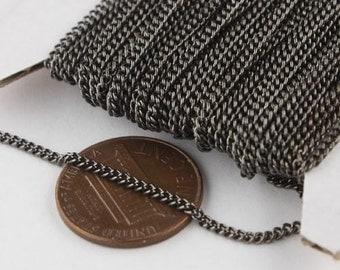 10 ft Gunmetal Solder Curb Chain - 1.6mm SOLDERED Link