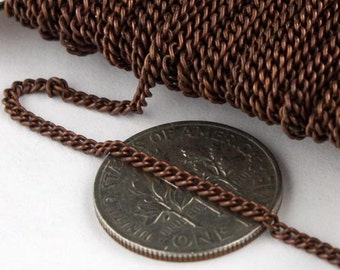 10 ft spool of Antique Copper Finished over Copper SOLDERED Curb Chain - 1.6mm SOLDERED Link