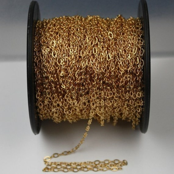 100 ft spool of Gold plated SOLDERED Figure 8 Connector Chain - 4v3mm links