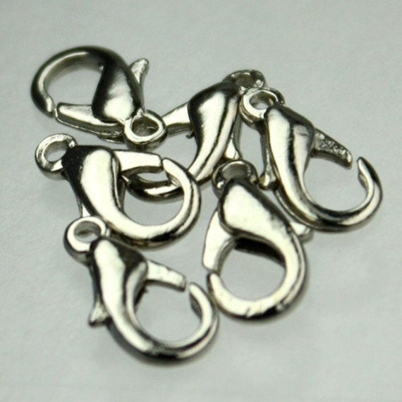 Wholesale Lot 500 pcs of Antique Silver Finished on Alloy Lobster claw clasp - 12X7mm - Ship from California USA