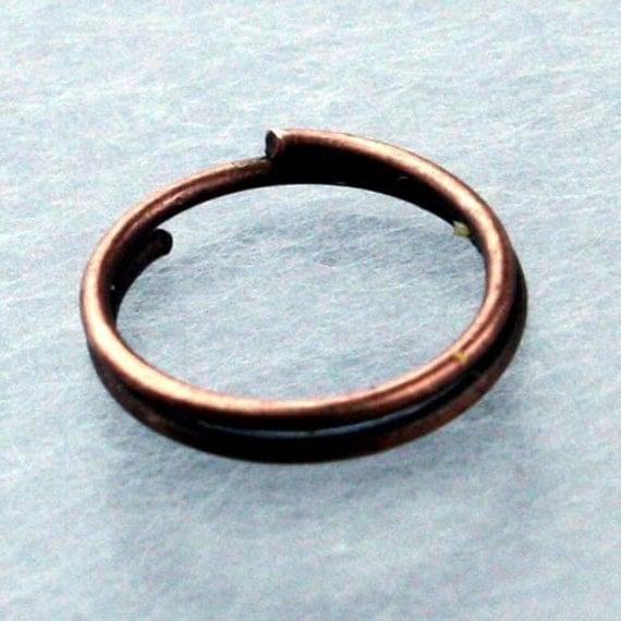 200 pcs of Antique Copper Finished Split Rings - 12mm