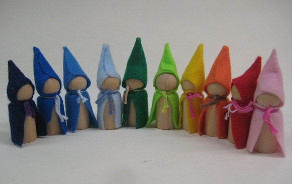 Gnome Garden: Little Wooden Gnomes 10 By Aewoodentoys On Etsy