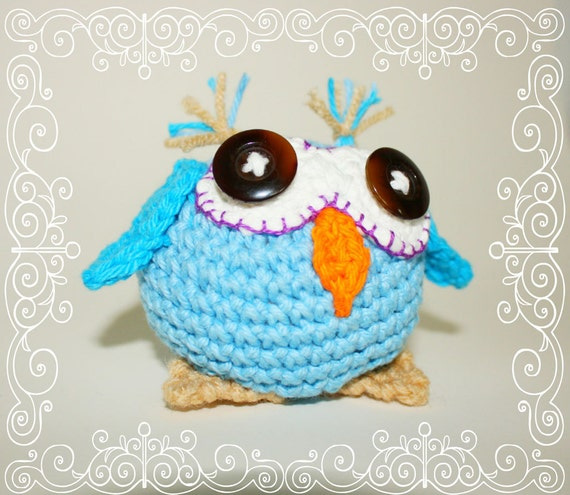 INSTANT DOWNLOAD Oliver the Owl Crochet Pattern