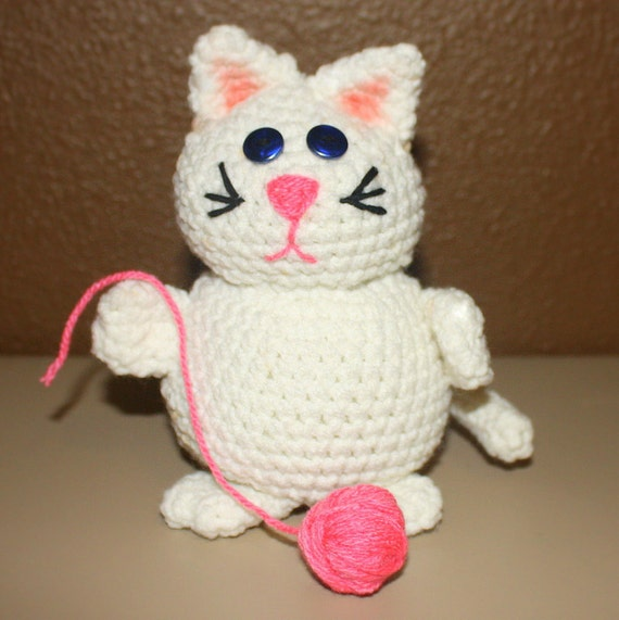 INSTANT DOWNLOAD Kiki the Kitten Crochet  Pattern