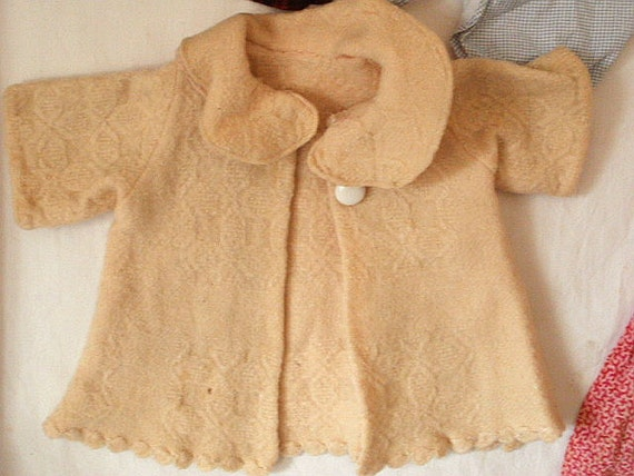 Assorted Vintage Doll Clothes, Various Ages, Dress, Coat, Smock