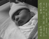 Noah Lucas birth announcement in any color