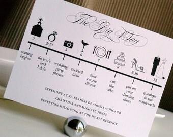 Custom DIY Printable Wedding Timeline