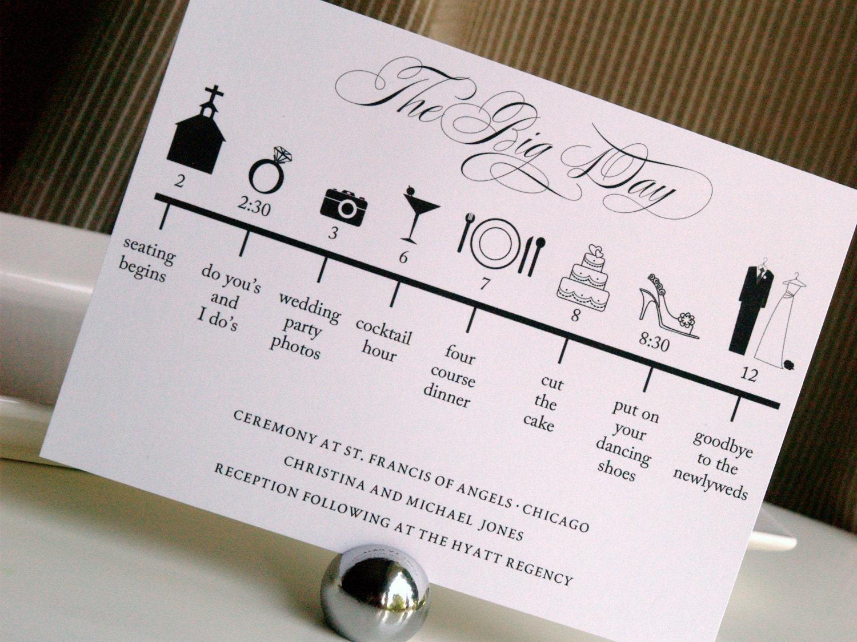 Custom DIY Printable Wedding Timeline By GraceWarrenDesigns