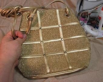 Moda Ativa Gold Lame Evening Bag