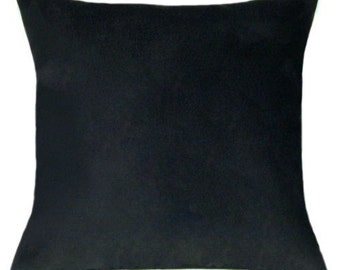 black throw pillow. black throw pillow - faux suede decorative free shipping w
