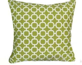 Green Throw Pillow - Swavelle/Mill Creek Outdoor Hockley Pear Square or Lumbar Outdoor Decorative Pillow Free Shipping