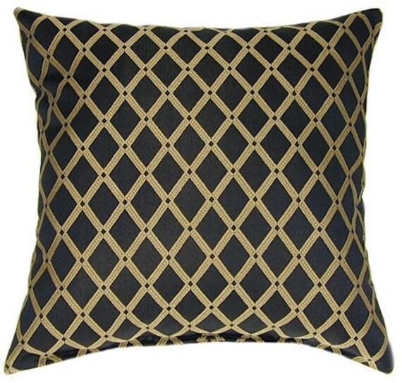 black and gold throw pillow richloom by landofpillowsdotcom. Black Bedroom Furniture Sets. Home Design Ideas