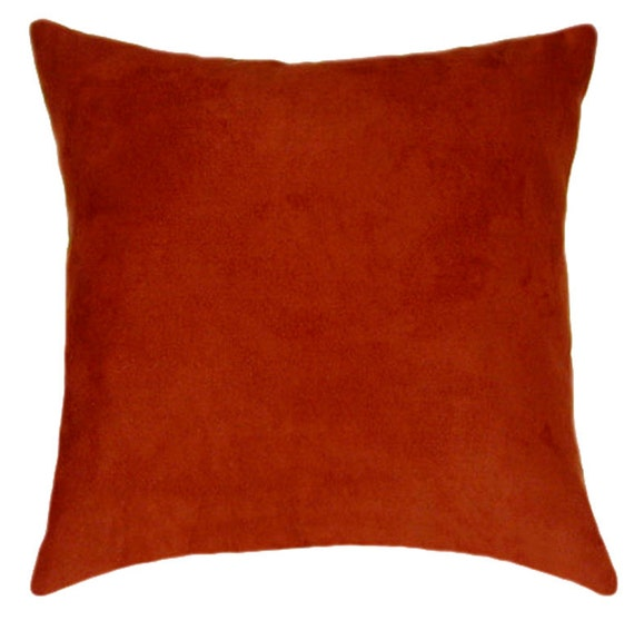 Throw Pillow Rust : Rust Throw Pillow Rust Faux Suede Decorative Throw Pillow