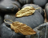 Gold Vermeil Butterfly Bush Earrings 1.5 in. top to bottom - made from all recycled gold and silver