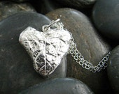 Sterling Silver Morning Glory Leaf Necklace