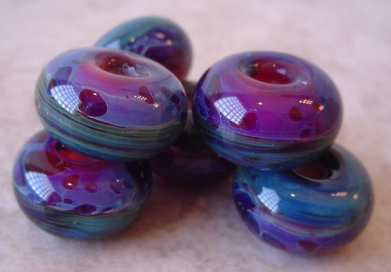 GARDEN MIST boro handmade lampwork beads