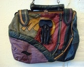 Vintage 1980s Patchwork Leather Purse