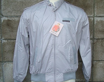 Member's Only Jacket Vintage 1980s cafe racer New Oldstock Deadstock Gray 42