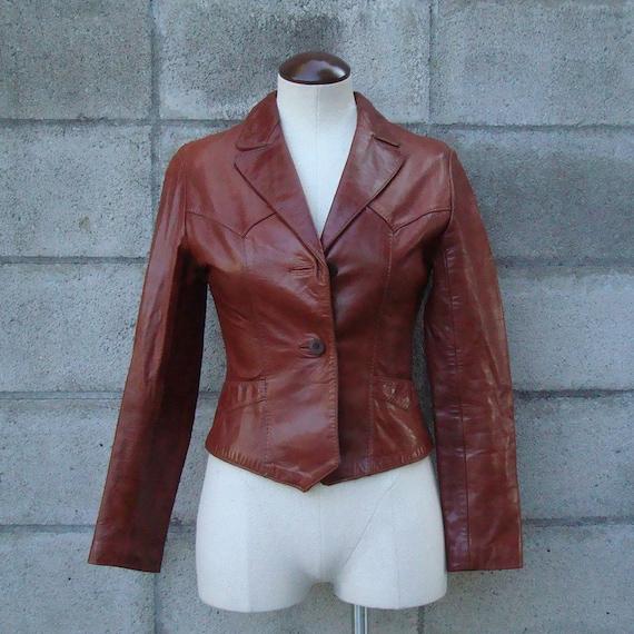 Vintage 1970s Beau Geste Leather Jacket