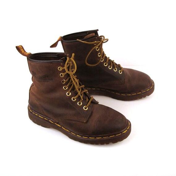 doc martens boots vintage 1990s doc martens brown