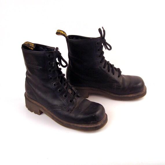 vintage 1990s doc martens black leather boots uk size 5