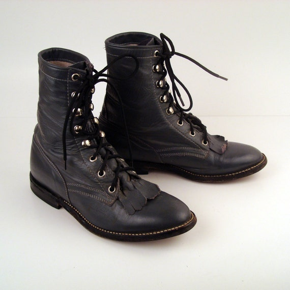 Gray Roper Boots Vintage 1980s Gray Roper Lace up Boots  Men's size 5