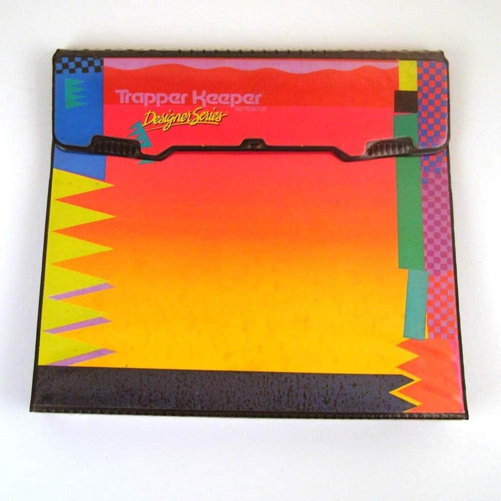 vintage 1980s mead trapper keeper 3 ring binder designer