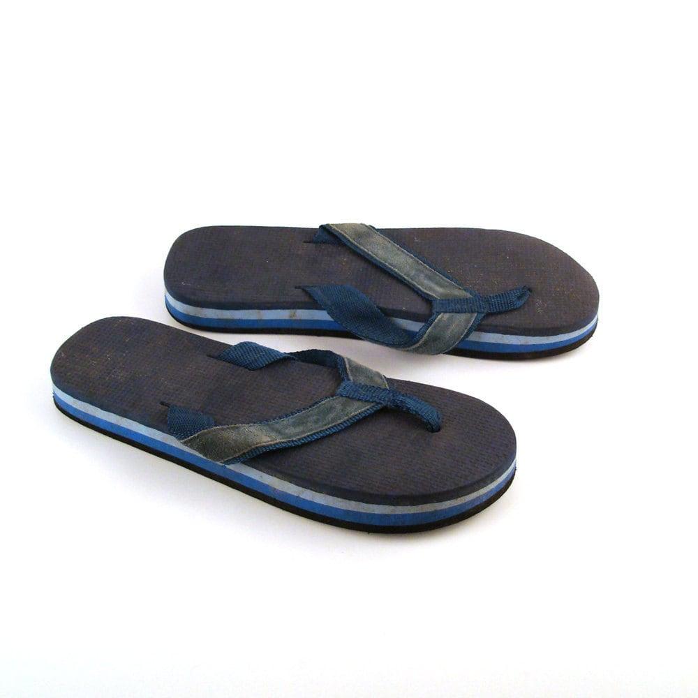 vintage 1980s flip flops sandals men 39 s size 8 1 2. Black Bedroom Furniture Sets. Home Design Ideas