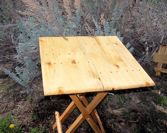 Large Wooden Folding Table