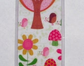 PIF Green and pink park scenes double-sided bookmark