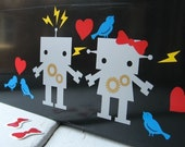 Silver Robot Vinyl Sticker Play Set