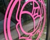 Hot Pink Rose Vinyl Decal/Sticker Revolutionary Girl Utena