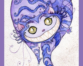 Cheshire Cat Teatime - Print