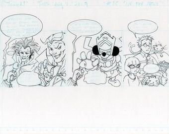At Tavicat original comic strip page 35