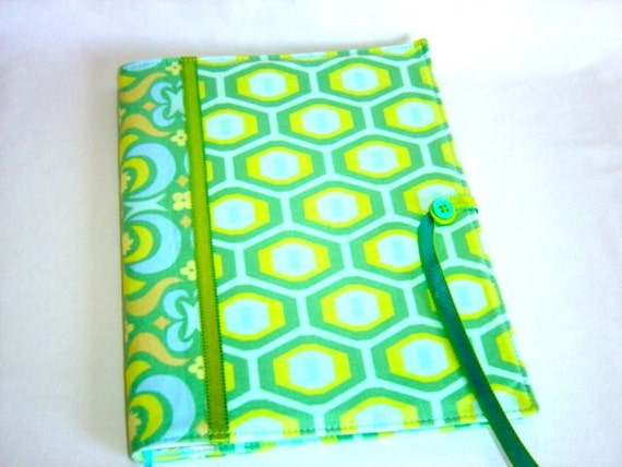 SALE  Fabric Composition NoteBook Cover in Amy Butler Fabric