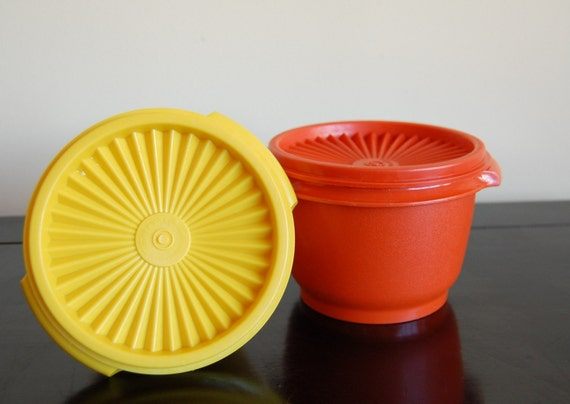 Citrus Tupperware Containers in Orange and Yellow