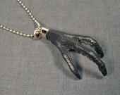 BLACK TALON CHOKER real bird foot taxidermy jewelry necklace