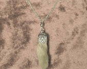 RABBIT PAW NECKLACE real taxidermy jewelry necklace inspired by antique European hunting relics