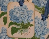 Blue Hydrangea Gift Tags