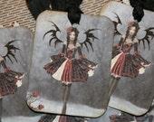 Gothic Black Fairy Tags